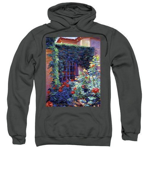 Guesthouse Rose Garden Sweatshirt by David Lloyd Glover