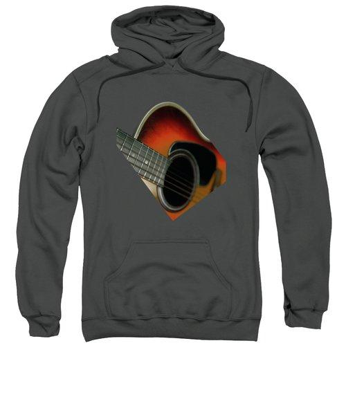 Guitar  Acoustic Close Up Sweatshirt