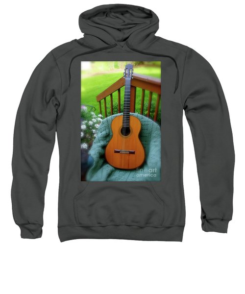 Guitar Awaiting Sweatshirt