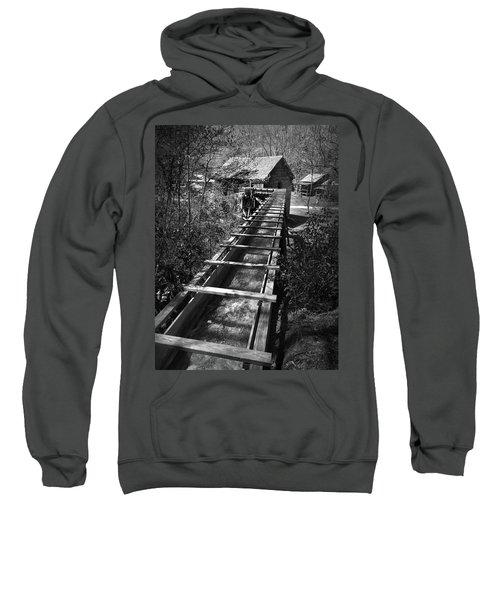 Hagood Gristmill Waterwheel At Hagood Mill Sweatshirt