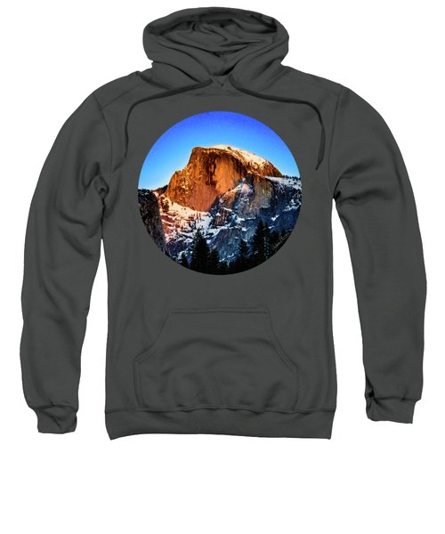 Half Dome Aglow Sweatshirt by Adam Morsa