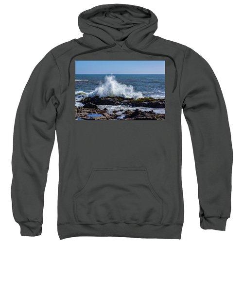 Wave Crashing On California Coast 1 Sweatshirt