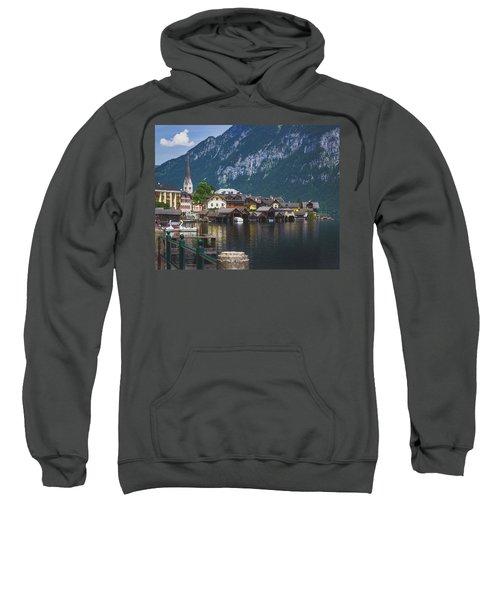 Hallstatt Lakeside Village In Austria Sweatshirt