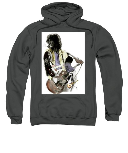 Hammer Of The Gods   Jimmy Page Sweatshirt by Iconic Images Art Gallery David Pucciarelli