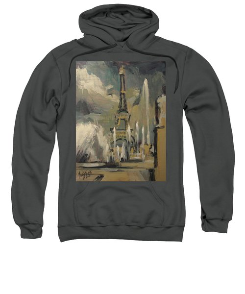 Happy Fountains At Trocadero Sweatshirt