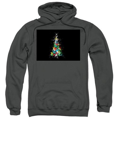 Happy Holidays - Abstract Tree - Horizontal Sweatshirt