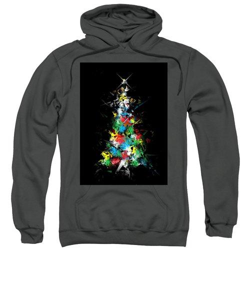 Happy Holidays - Abstract Tree - Vertical Sweatshirt