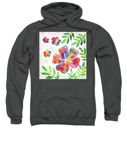 Happy Watercolor Flowers Sweatshirt
