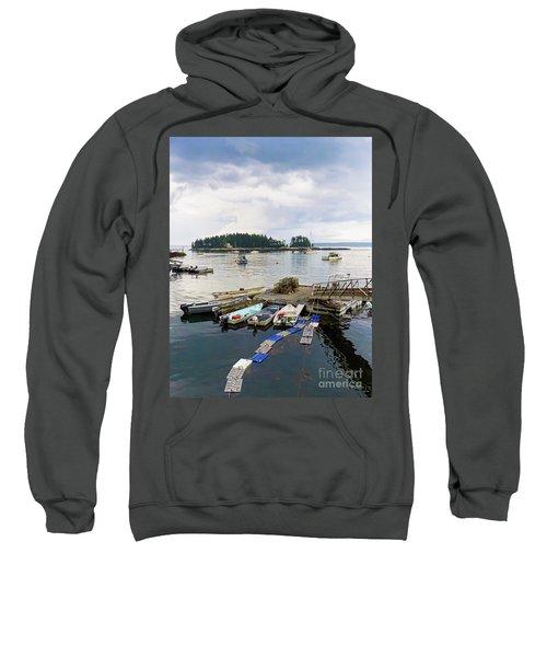 Harbor At Georgetown Five Islands, Georgetown, Maine #60550 Sweatshirt