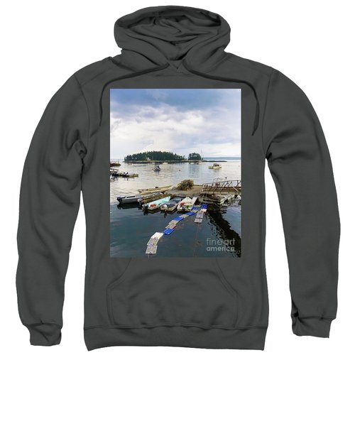 Harbor At Georgetown Five Islands, Georgetown, Maine #60550 Sweatshirt
