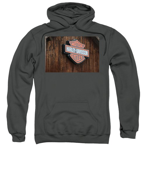 Harley Davidson Sign In West Jordan Utah Photograph Sweatshirt