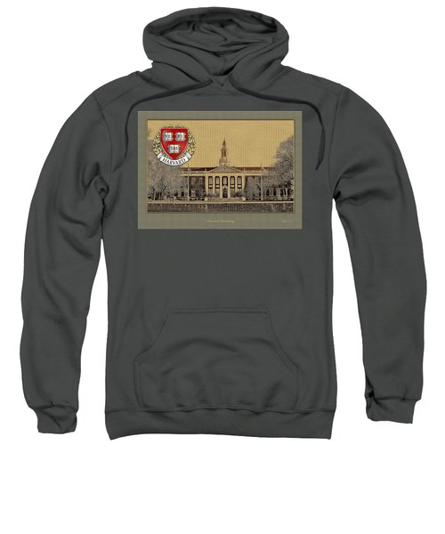 Harvard University Building With Seal Sweatshirt