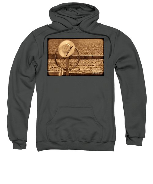 Hat And Lasso On A Fence Sweatshirt
