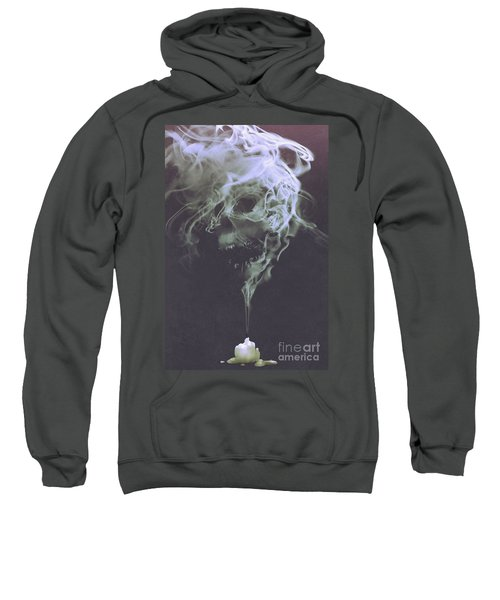 Sweatshirt featuring the painting Haunted Smoke  by Tithi Luadthong