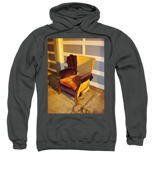 Sweatshirt featuring the photograph Have A Seat In Dore Alley by Mr Photojimsf