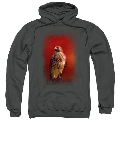 Hawk On A Hot Day Sweatshirt by Jai Johnson