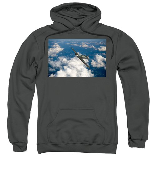 Sweatshirt featuring the photograph Hawker Hurricane IIb Of 174 Squadron by Gary Eason