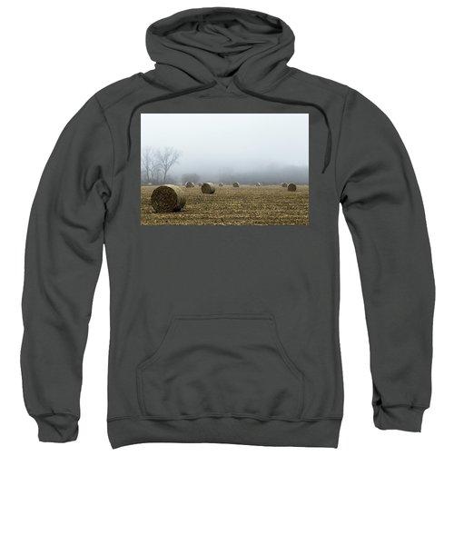 Hay Bales In A Field Sweatshirt