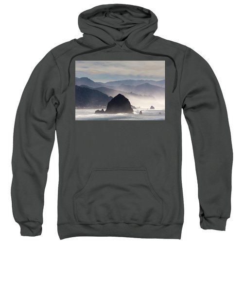 Haystack Rock On The Oregon Coast In Cannon Beach Sweatshirt