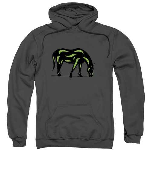 Hazel - Pop Art Horse - Black, Greenery, Purple Sweatshirt