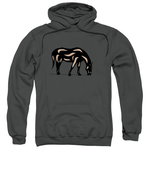 Hazel - Pop Art Horse - Black, Hazelnut, Greenery Sweatshirt