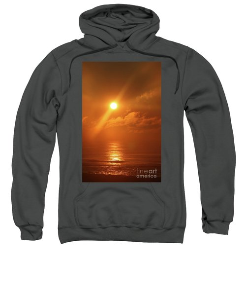 Hazy Orange Sunrise On The Jersey Shore Sweatshirt