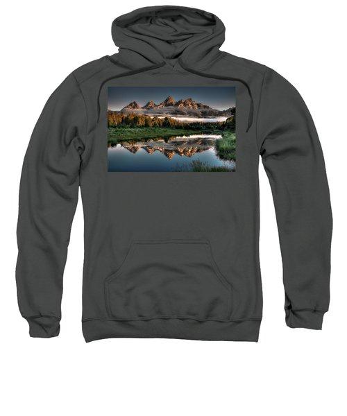 Hazy Reflections At Scwabacher Landing Sweatshirt