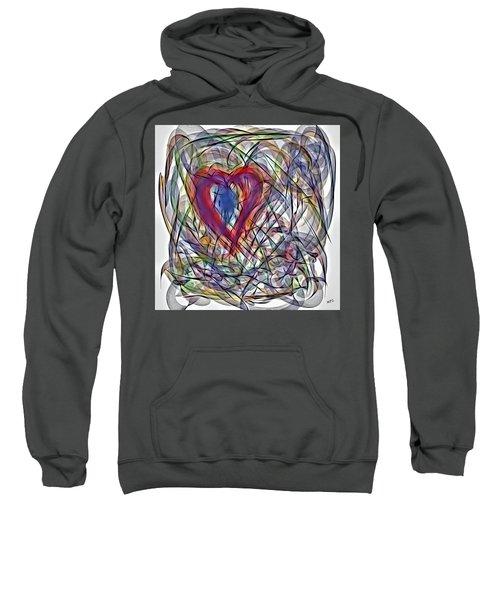 Heart In Motion Abstract Sweatshirt
