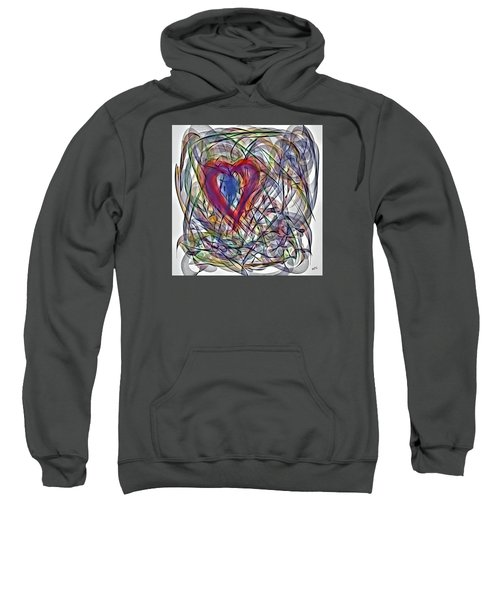 Heart In Motion Abstract Sweatshirt