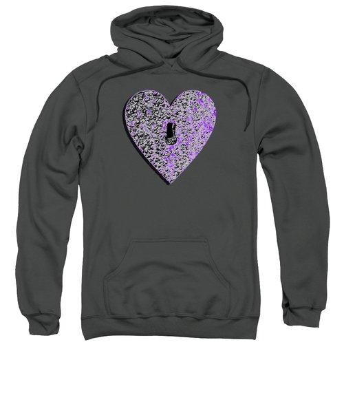 Heart Shaped Lock Purple .png Sweatshirt