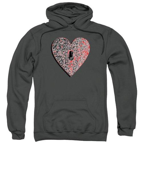 Heart Shaped Lock Red .png Sweatshirt