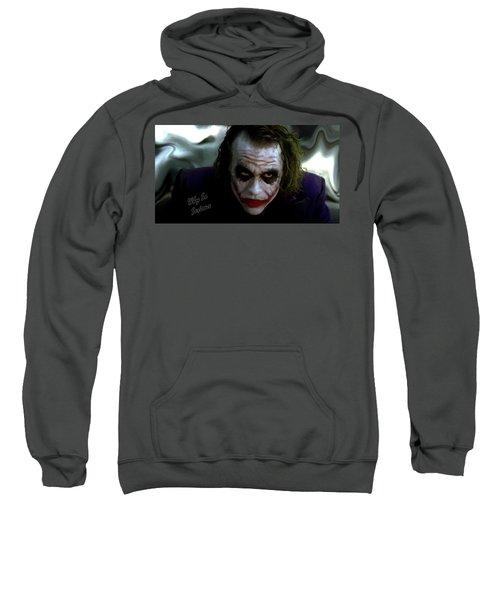 Heath Ledger Joker Why So Serious Sweatshirt by David Dehner