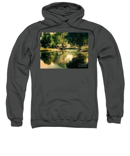 Heckscher Park Pond, Huntington Ny Sweatshirt