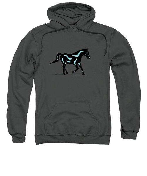 Heinrich - Pop Art Horse - Black, Island Paradise Blue, Greenery Sweatshirt