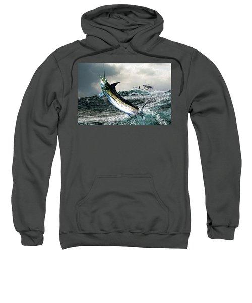 Hemingway's Marlin, The Old Man And The Sea, Fish On Sweatshirt