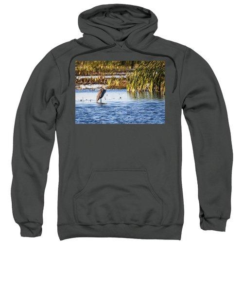Heron - Horicon Marsh - Wisconsin Sweatshirt