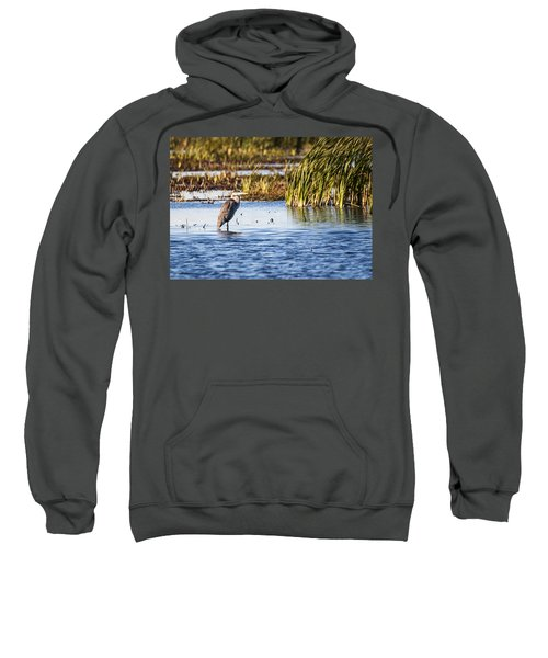 Heron - Horicon Marsh - Wisconsin Sweatshirt