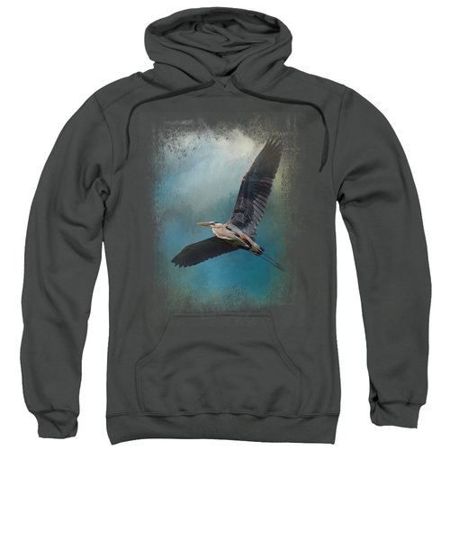 Heron In The Midst Sweatshirt by Jai Johnson