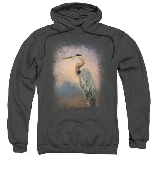 Heron On The Rocks Sweatshirt by Jai Johnson