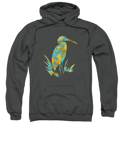 Heron Watercolor Art Sweatshirt by Christina Rollo