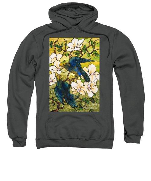 Hibiscus And Parrots Sweatshirt