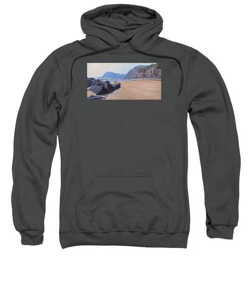 Sweatshirt featuring the painting High Peak Cliff Sidmouth by Lawrence Dyer