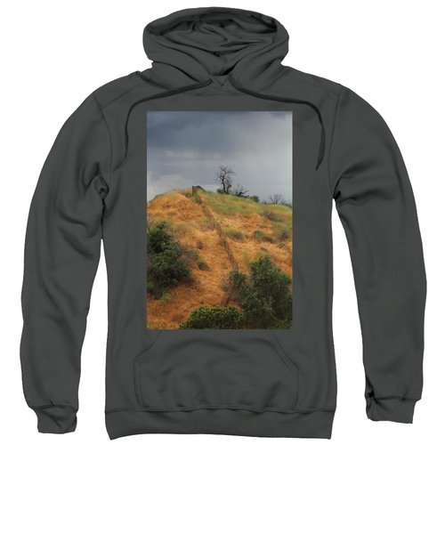 Hill Divided By Fence Sweatshirt