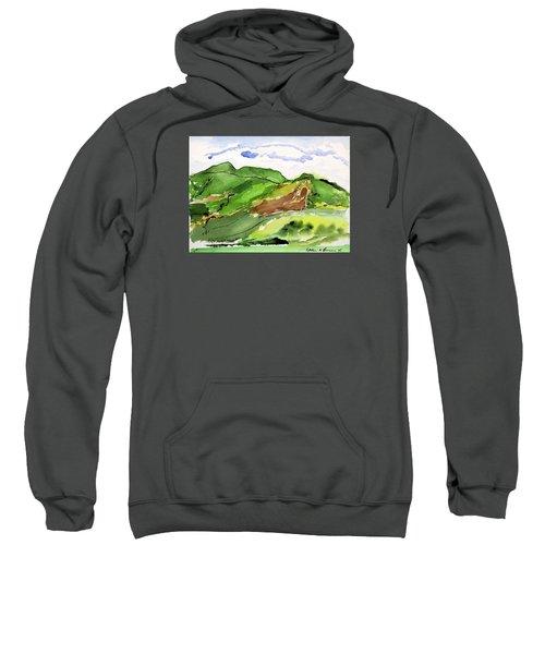 Hillside And Clouds Sweatshirt