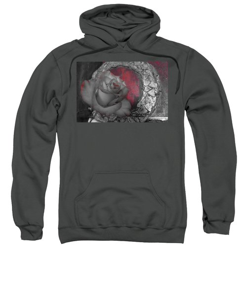 Hints Of Red - Rose Sweatshirt