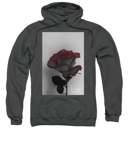 Hints Of Red- Single Rose Sweatshirt