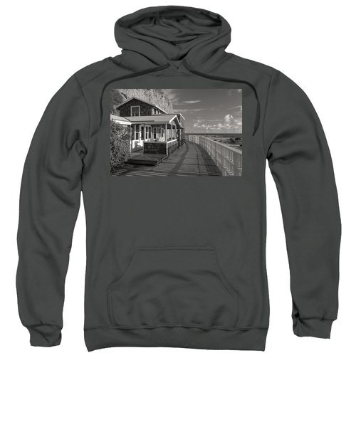 Historic Cottage  Crystal Cove Black And White Sweatshirt