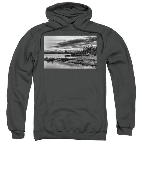 Historic Whitebog Landscape Black - White Sweatshirt