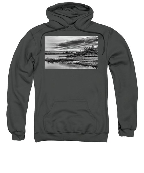 Historic Whitebog Landscape Black - White Sweatshirt
