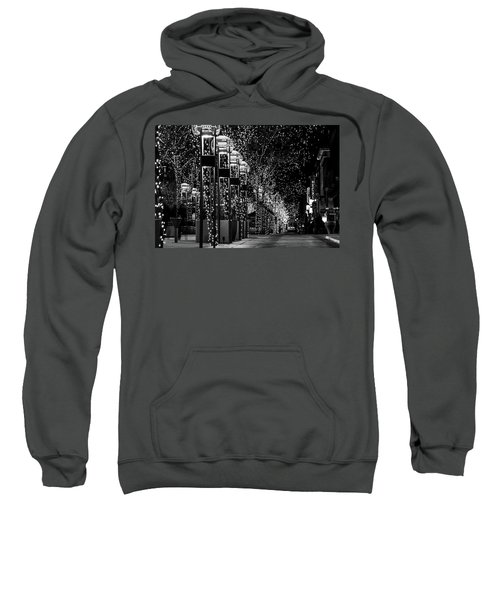 Sweatshirt featuring the photograph Holiday Lights - 16th Street Mall by Stephen Holst